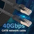 Cat8 Ethernet-кабель SFTP 40 Гбит/с, супер скоростная сеть Cat 8, сетевой патч-корд с позолоченным разъемом RJ45 для маршрутизатора, модема, ПК