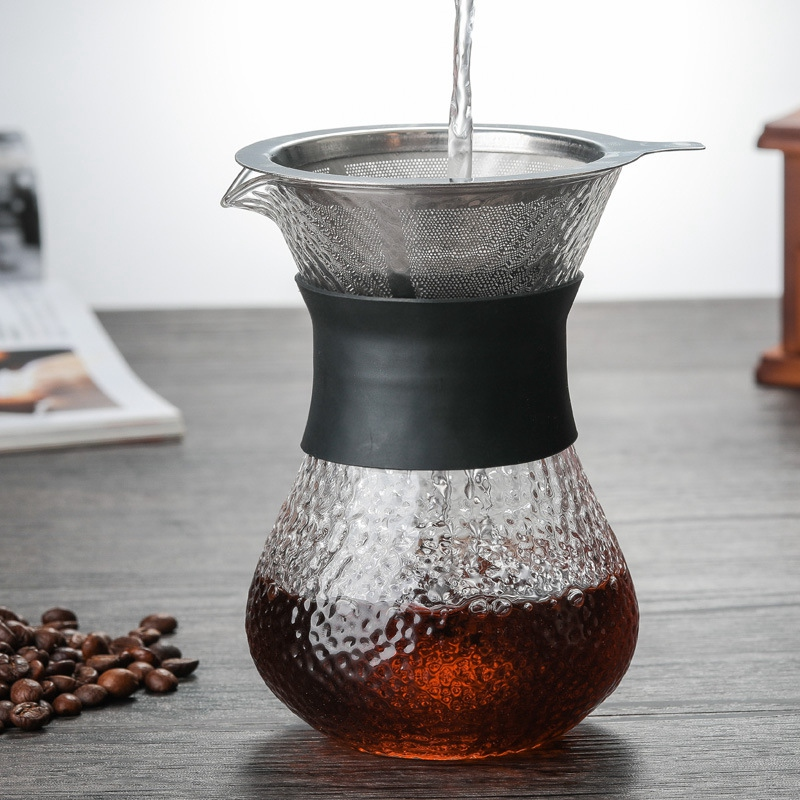 HOT SALE Hand-Brewed Coffee Pots High Borosilicate Glass Espresso Water Drip Coffee Maker Reusable Tea Filter Tool Coffee Ware