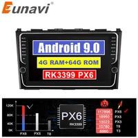 Eunavi Car dvd player GPS Navi For Honda CRV 2007 2011 IPS Capacitive screen 1024 *600 +wifi+BT+SWC+RDS+Android 9.0+4G RAM PX6