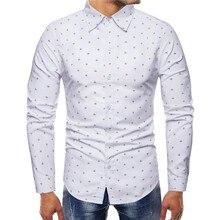fashion 2019 autumn long sleeve mens shirts casual slim fit eu size 4xl cotton camisa masculina manga longa