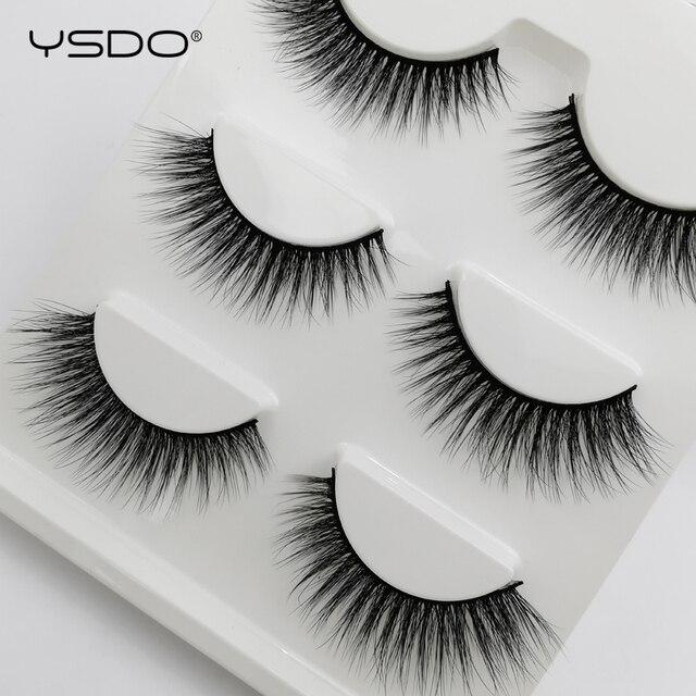 3 Pairs mink false eyelashes natural long 3d mink lashes fluffy wispy fake lashes thick cilios makeup eyelash extension tools 5