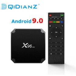 DQiDianZ X96mini novo Android 9.0 X S905W 96 mini CAIXA de TV Inteligente Quad Core suporte 2.4G Sem Fio WI-FI media box Set-Top Box