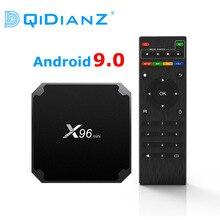 Dqidianz X96mini新しいandroid 9.0 X96ミニスマートtvボックスS905Wクアッドコアサポート2.4グラムワイヤレスwifiメディアボックスセットトップボックス