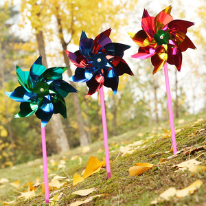 10pcs Children Garden Windmill Colorful Decoration DIY Handmade class Wind Spinner Outdoor Toy Gift for kids moulin a vent