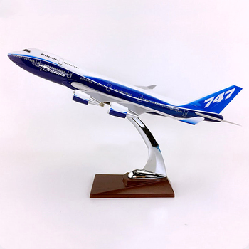 30CM Airplanes Boeing B747 Prototype Model Resin Diecast Plane Aircraft Model Toys Airplane Kids Gift Collectible Display