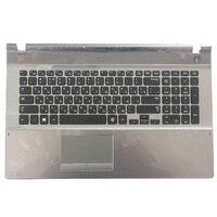 Bilgisayar ve Ofis'ten Yedek Klavyeler'de Yeni rus samsung klavye 500P7C 550P7C NP550P7C NP500P7C RU laptop klavye C kabuk ile BA75 03791C