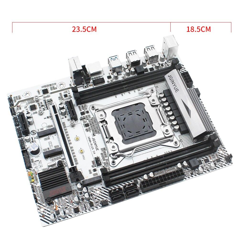 JGINYUE X99 motherboard LGA 2011-3 support DDR4 RAM Xeon E5 V3&V4 processor SATA pci-e M.2 NVME slot X99M PLUS D4 motherboards 5