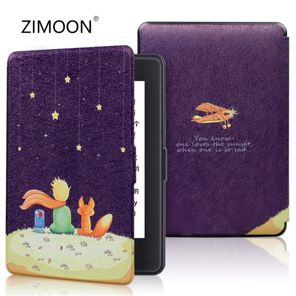 Smart Case for Amazon Kindle Paperwhite 1 2 3 PU Leather Print Flip Cover fit All Kindle Paperwhite Generations Prior to 2018 Tablets & e-Books Case     - title=