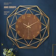 Large Metal Wall Clock Luxury Living Room Creative Modern Nordic Silent  Clocks Wall Home Decor Duvar Saati Atmospheric FZ096