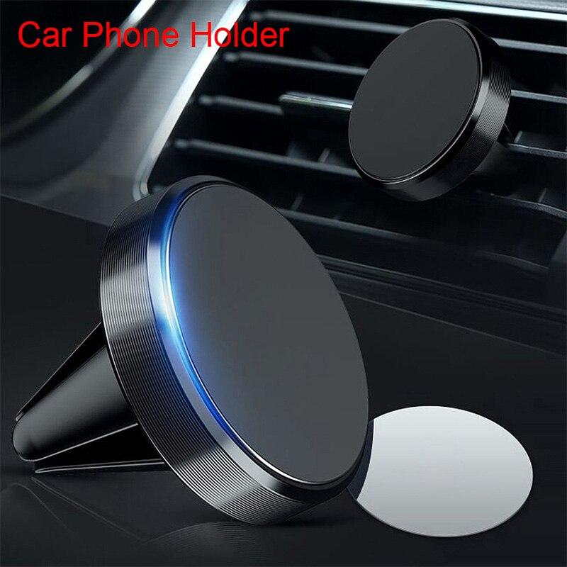 Универсальный Магнитный Алюминий сплав автомобильный держатель для телефона на магните на дефлекторах вентиляции автомобиля навигатора, ...
