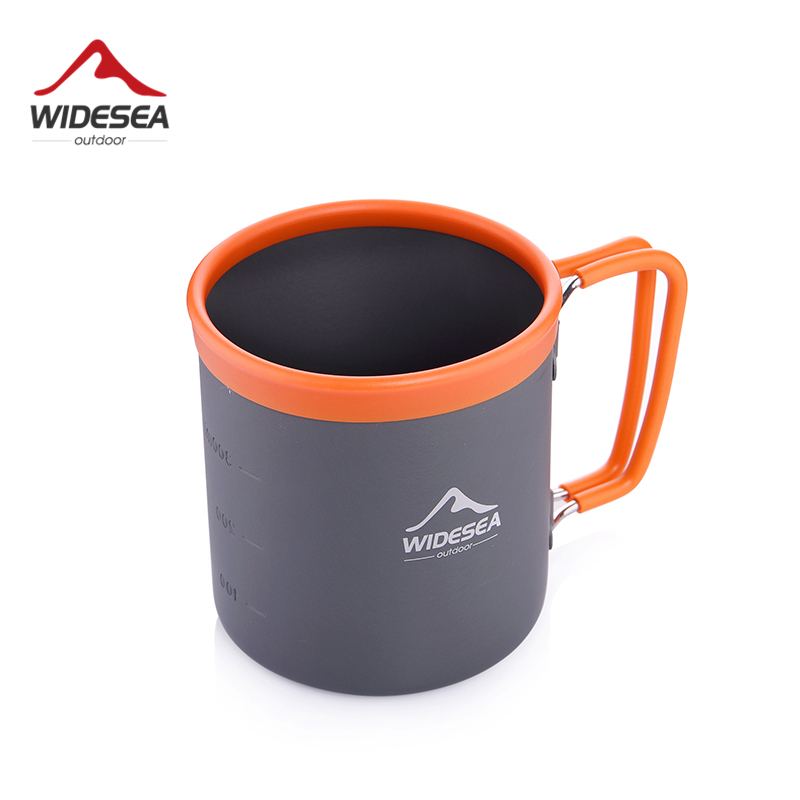 Widesea Camping Aluminum Cup Outdoor Mug Tourism Tableware Picnic Cooking Equipment Tourist Coffee Drink Trekking Hiking