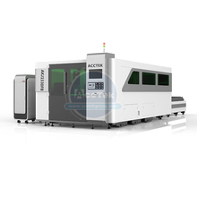 цена на Full enclosed structure laser cutter 1500x3000mm size cnc laser cutting machine sheet metal AKJ1530FB