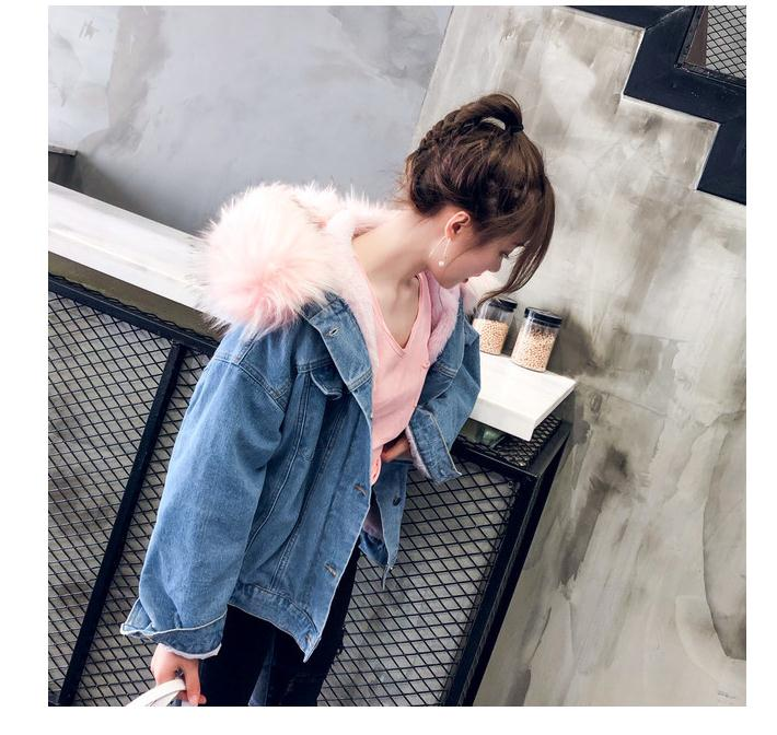 H73ef6bd5da664de08dfeca7a39f3f593n LUZUZI 2019 New Warm Winter Bomber Women Winter Autumn Hooded Girls Coat Jeans Denim Jackets Basic Ladies Top Windbreaker Female
