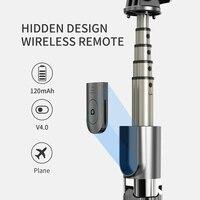 Высокое качество беспроводной bluetooth селфи палка штатив с дистанционным Palo селфи выдвижной складной монопод для Iphone экшн-камеры 1