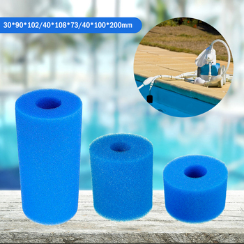 Swimming Pool Filter Foam Reusable Washable For Type Pool Filter Sponge Cartridge Suitable Bubble Jetted Pure SPA 1pcs swimming pool filter foam reusable washable for intexs s1 type pool filter sponge cartridge suitable bubble jetted pure spa