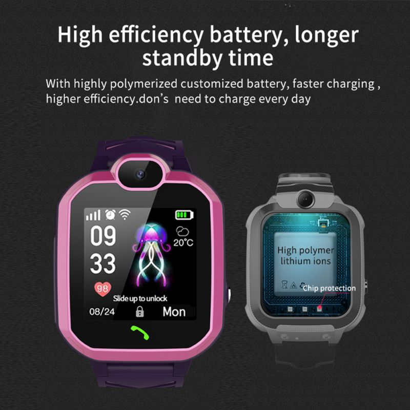 GPS Child Smart Watch Phone Position Children Watch 1.44 Inch Color Touch Screen WIFI SOS Smart Baby Watch