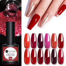 UR SUGAR 7,5 мл красный с золотым блеском Цветной Гель-лак для ногтей Holographics гель Лаки био-Гели Soak Off УФ гель-лаки для ногтей арт-дизайн салон