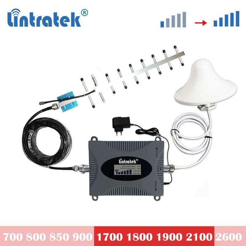 Lintratek 4g lte 1800mhz dcs 1700 1900 3g 2100 B1 UMTS 3g усилитель сигнала повторитель мобильный телефон сотовый усилитель комплект 6