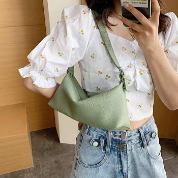 Vintage Solid Color Small PU Leather Crossbody Bags For Women 2020 Simple Shoulder Handbags Female Travel Totes Purses