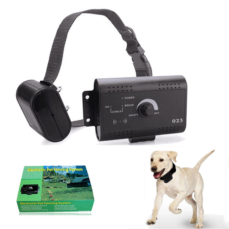 4 Regulations Dog Training Control Device Collar Yard Electric Fencing fence Safety Waterproof for Pet play