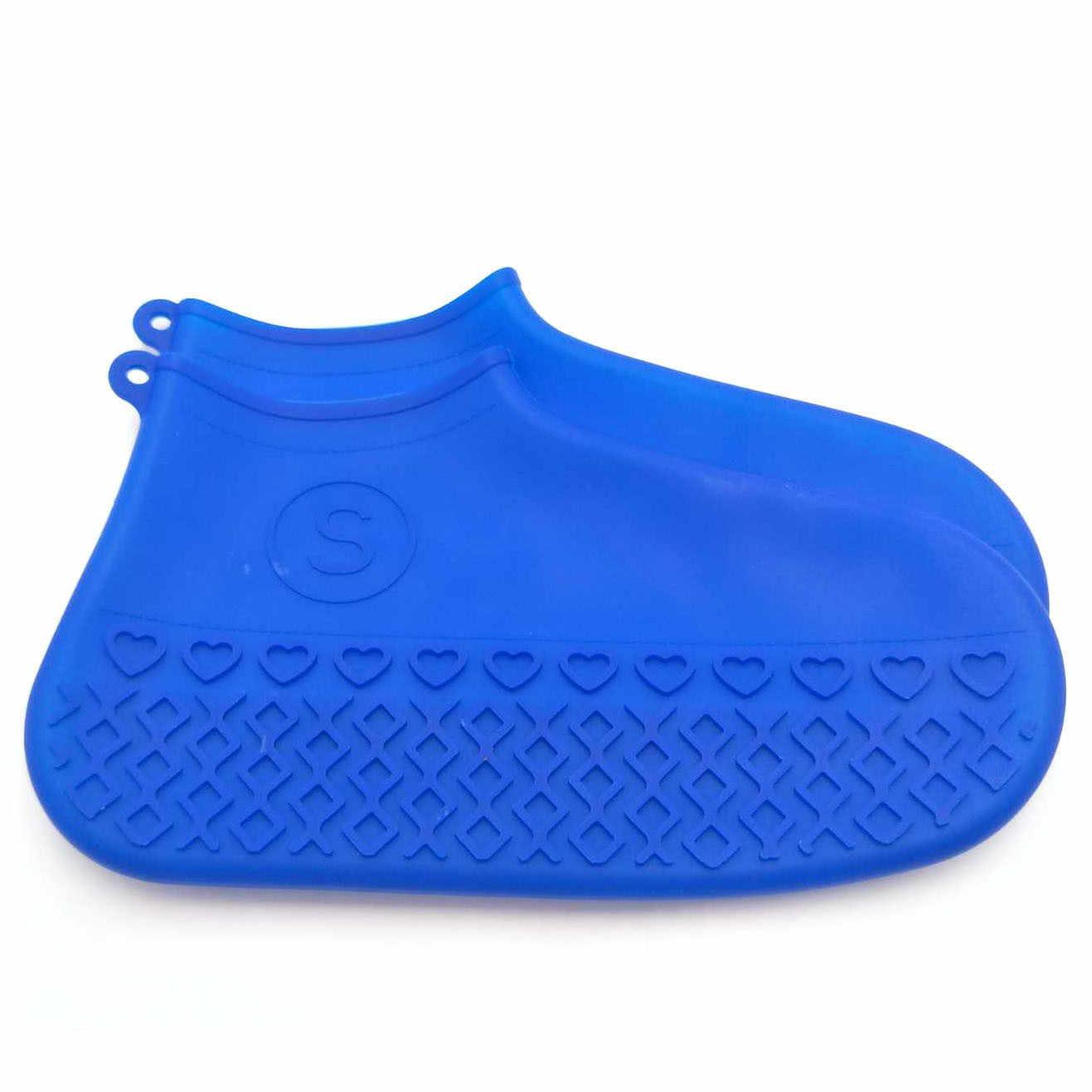 Zapatos de silicona reciclables reutilizables impermeables a prueba de agua para hombre fundas para Botas de lluvia antideslizantes lavables 6 colores S/M /L