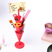 Multi-function Pen Holder Desktop Pen Holder Office Organizer Pen Storage Box School Storage Case Makeup Brush Plastic Container deli office pen container small objects storage box multifunctional desk organizer portable pen holder office school supplies