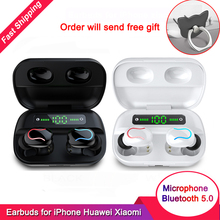 Bluetooth 5.0 Headphones TWS Touch True Wireless Earbuds IPX7 Waterproof Earphon