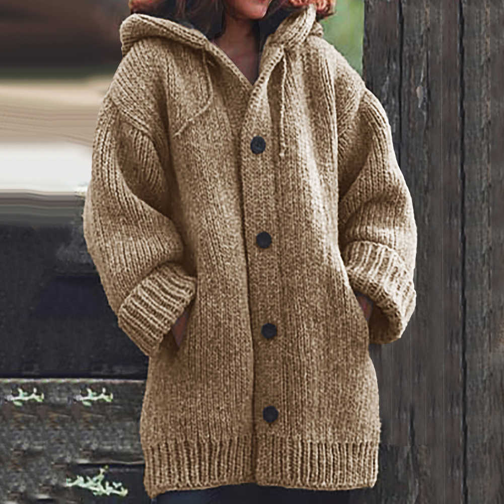 Coat of angora Women Cardigans Sweater Solid Loose Knitwear Single Breasted Casual Knit Cardigan Outwear Winter Jacket Coat 2019