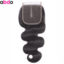 Body Wave Closure 4*4 Lace Closure 22 Inch Closures human hair closure 100% Human Hair Closure Peruvian Frontal Closure(China)