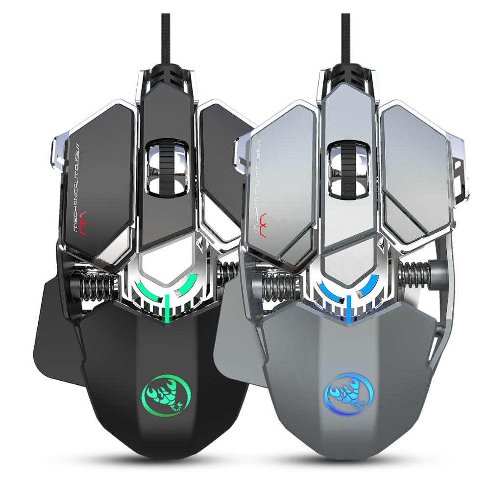Pro Wired Gaming Mouse 6400DPI 9Key Macro Definition Wired Mouse Office Gamer Mice Breathing Backlit For Computer Laptop PC PUBG