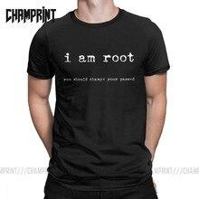 I am raiz camiseta masculina, camisetas de algodão para homens, novidade, ubuntu command, linha linux, unix, hacking, roupas de manga curta gráfico gráfico