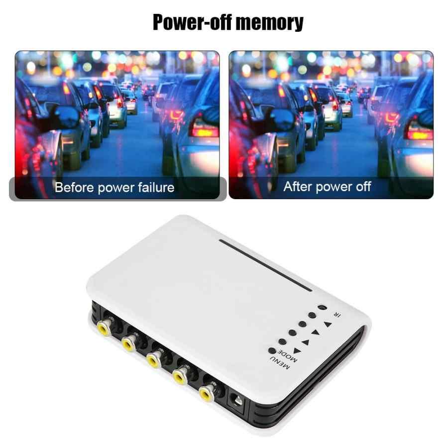 Camera Quan Sát Video Quad Bộ Chia Switcher Camera Bộ Vi Xử Lý Hệ Thống Bộ 4 Kênh BNC Adapter Mới