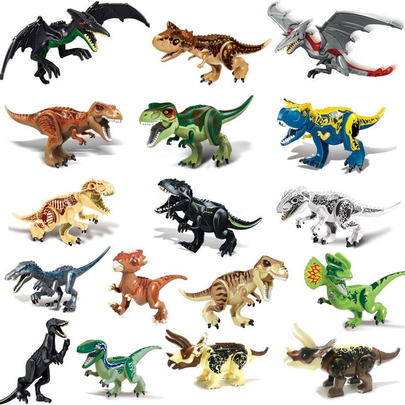 Legoes Jurassic Dinosaur World Indoraptor Velociraptor Triceratop T-Rex World DinoBuilding Blocks Toy Dinosuar Toys For Children