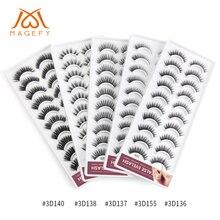 New 1/10 pairs Natural False Eyelashes Handmade Dense 3d Mink Lashes Long Makeup Fake Extension