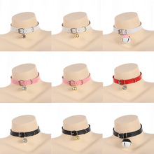 Sex Erotic Toys Accessories For Women Adult BDSM Bondage Games Cute Kawayi Collar With Bell Slave Cosplay Fetsih Necklace lolita