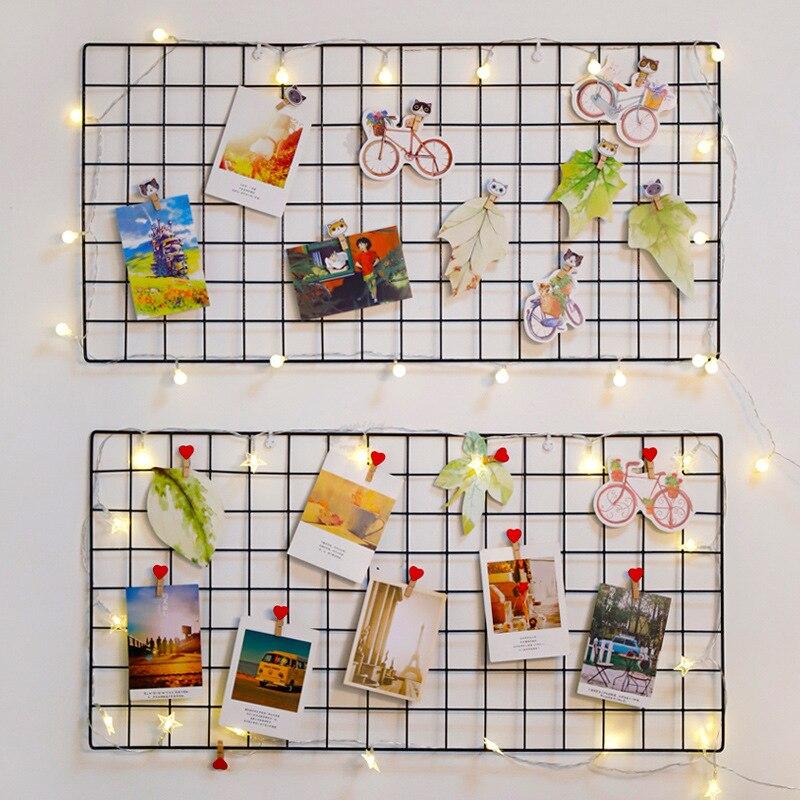 Colgante de pared con decoración de fotos, dormitorio, pared del dormitorio, malla de hierro simple estilo nórdico 6 LEDs PIR Sensor de movimiento luz de noche Auto On/Off para dormitorio escaleras armario inalámbrico USB recargable lámpara de pared