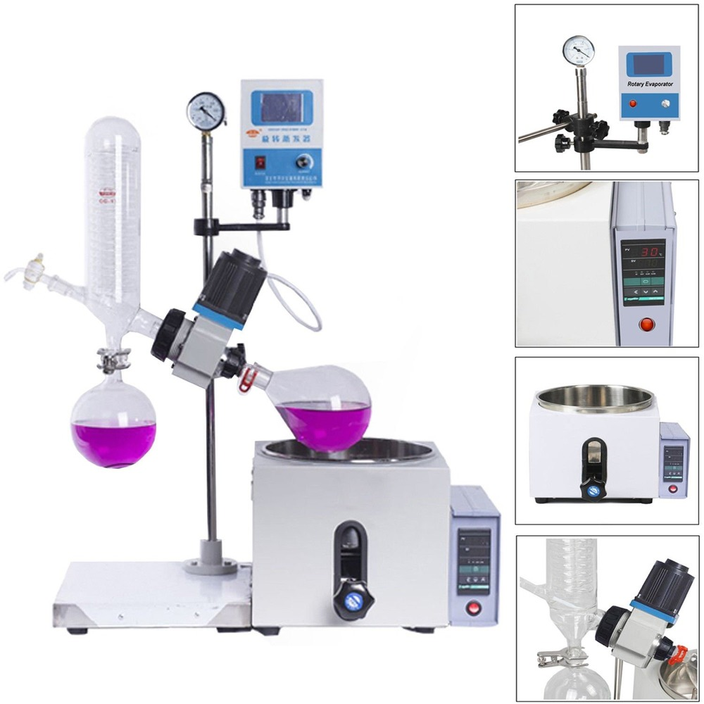 Laboratory High Performance  Rotary Evaporator Rotavapor Equipment W/Motor Lift  Digital Heating Bath  Kits|Laboratory Thermostatic Devices| |  - title=