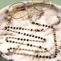 Frauen maske kette Mode Gläser Ketten Perlen Legierung Anti-Slip Anti-verloren Schnürsenkel Gläser Halter Brillen Retainer