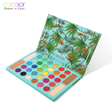 Docolor paleta de sombra de olho, 34 cores matte brilhoso glitter, sombra de olho, maquiagem à prova dágua, cosméticos pigmentados