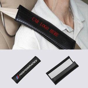 Image 1 - العالمي مقعد السيارة حزام غطاء ألياف الكربون منصات لسيارات BMW هوندا أودي بنز مازدا نيسان تويوتا فيوس لكزس فولفو اكسسوارات السيارات