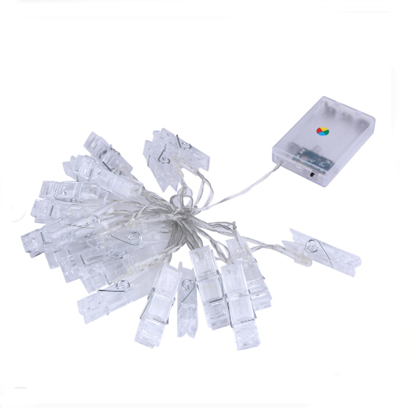 2.2M 20Led Photo Clip Holder Led String Lights Battery Powered Christmas New Year Party Wedding Decoration Fairy Lights