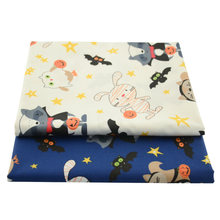 Booksew синий кролик мультяшный узор 100% саржевая ткань хлопчатобумажная