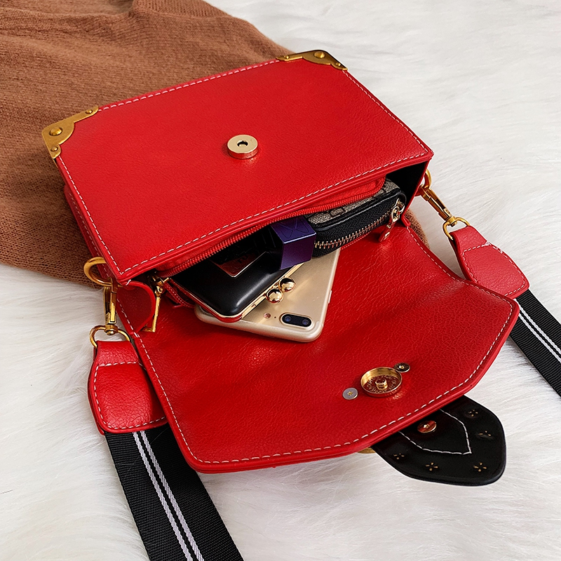 H73f1b904a362402182a260c11f16e5400 - Female Fashion Handbags Popular Girls Crossbody Bags Totes Woman Metal Lion Head  Shoulder Purse Mini Square Messenger Bag