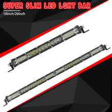 цена на Super Slim Led Light Bar 10 20 inch Combo Beam Single Row Led Bar Offroad for Car Truck 4x4 SUV ATV UAZ SUV 12V 24V Driving Lamp