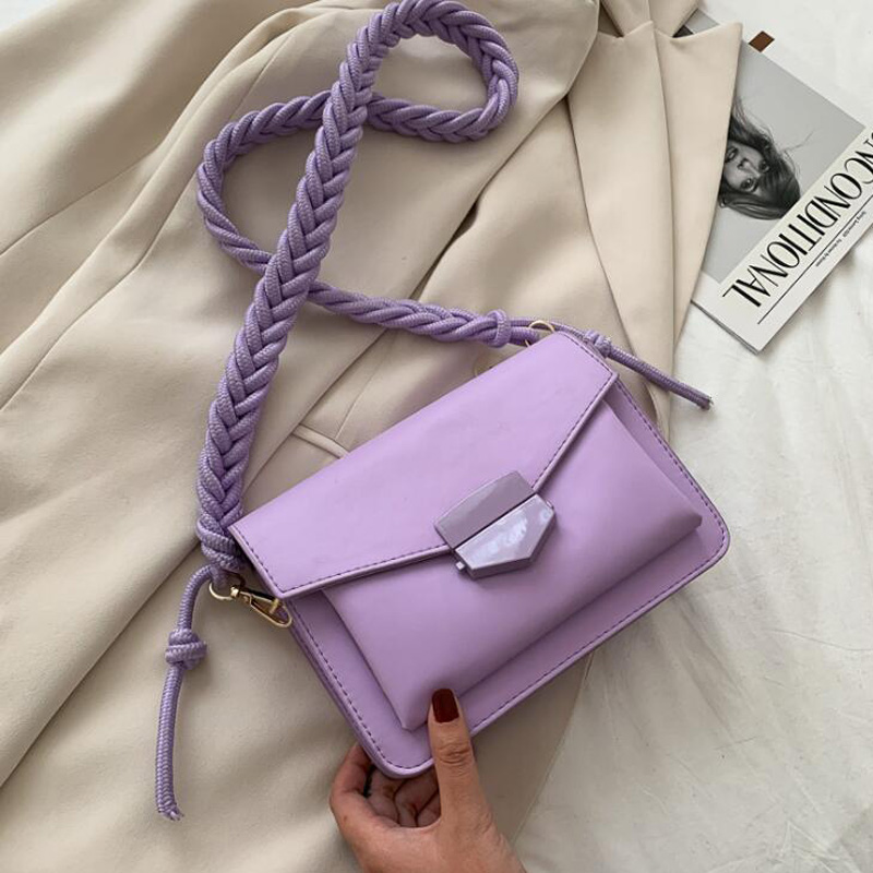 Fashion Knitting Strap Shoulder Bags for Women 2020 Luxury Handbags Designer Small Crossbody Bags Lady Travel Messenger Bag(China)