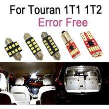 18x LED License plate lamp + Parking position + Interior reading Light Kit for VW for Touran 1T1 1T2 (2003-2010)