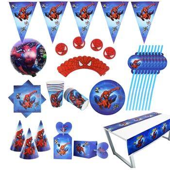 «Человек-паук»; Вечерние комплект поставки коробка салфетки пластины скатерть чашки ножи, вилки и ложки