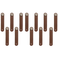 12Pcs Schrank Griffe Handgemachte Leder Kommode Schublade Knöpfe Zieht Tür Griff Küche Pulls Knob Möbel Hardware Zubehör-in Türgriffe aus Heimwerkerbedarf bei