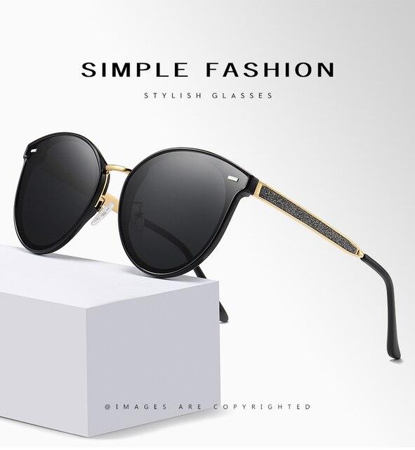 Круглые поляризованные солнцезащитные очки lioumo для женщин