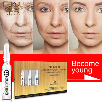 LAIKOU 24K Gold Ampoule Face Serum Anti-wrinkle Essence Moisturizing Anti-Aging Reducing  Fine Lines Lifing Face Serum Skin Care dark spot corrector remover serum for face most potent anti aging facial corrector reduce fine lines